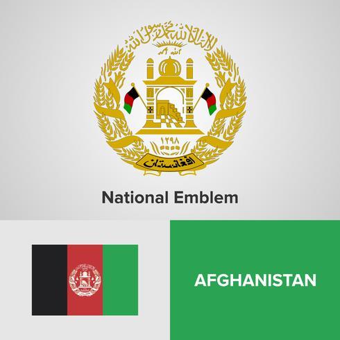 Emblème national et drapeau vecteur