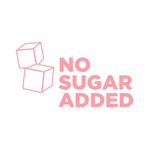 Icône sans sucre. vecteur