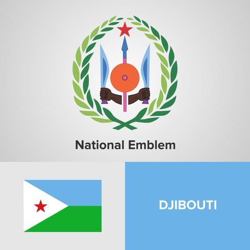 Emblème national, carte et drapeau vecteur