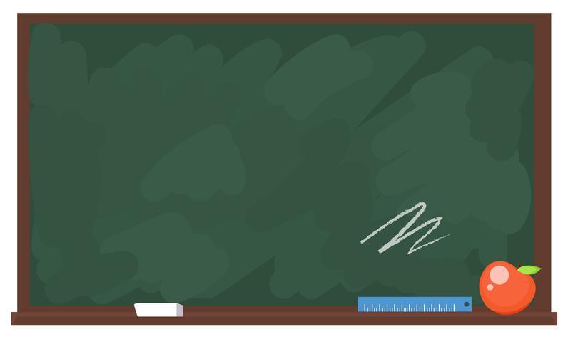 Commission scolaire avec texte écrit à la craie vecteur