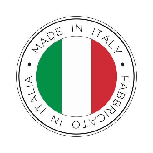 Fabriqué en Italie icône de drapeau. vecteur