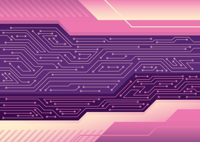 Circuit imprimé vecteur