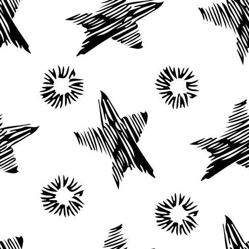 Modèle dessiné de main élégante sans soudure. vecteur