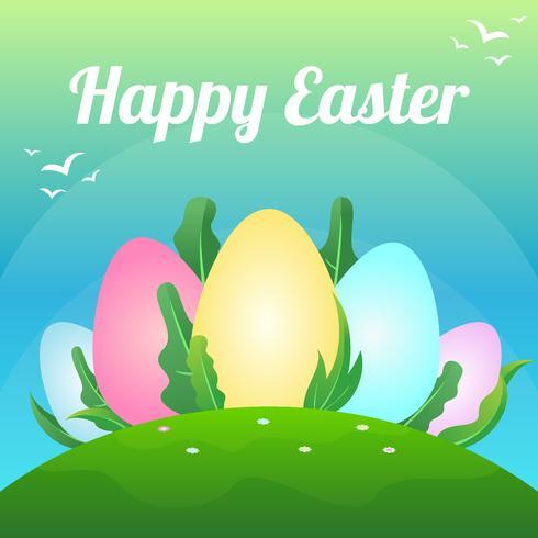 fond d'écran de Pâques vecteur