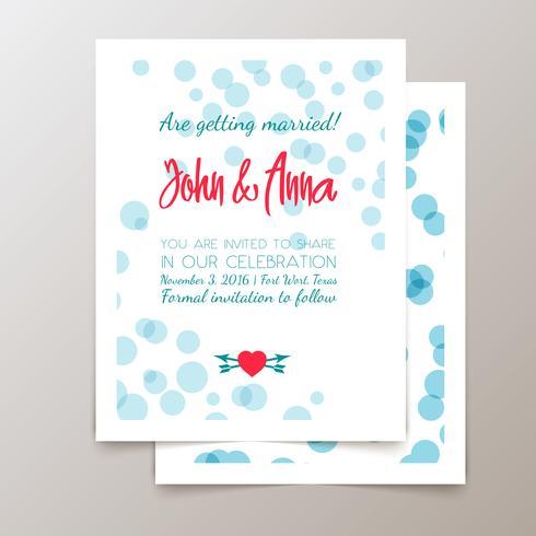 Cartes et invitations mignonnes à la mode. vecteur