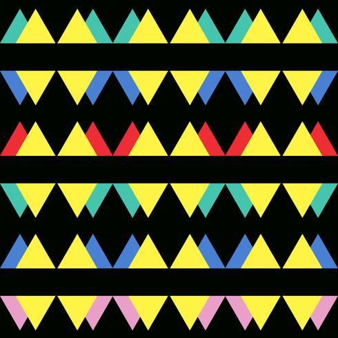 Transparente motif abstrait vintage avec des triangles dans le style des années 80 vecteur