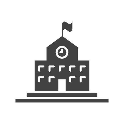Glyphe noir icône vecteur