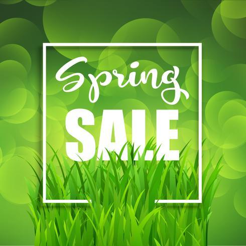 Fond de vente de printemps vecteur