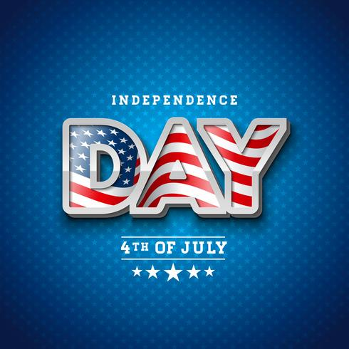 Jour de l'indépendance des Etats-Unis Vector Illustration