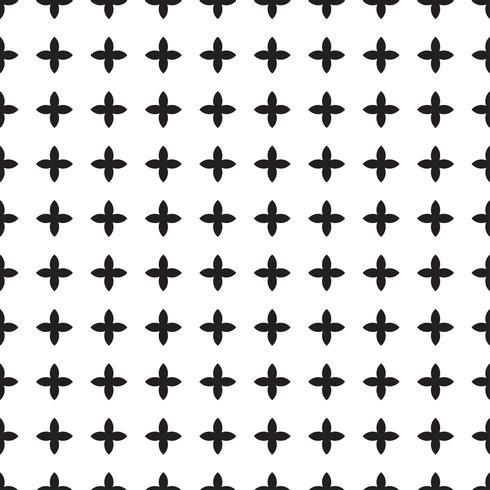 Modèle sans couture noir et blanc universel (carrelage). vecteur