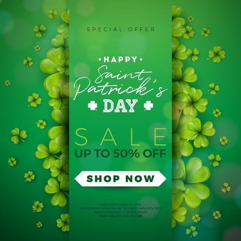 St. Patrick's Day Sale Design vecteur