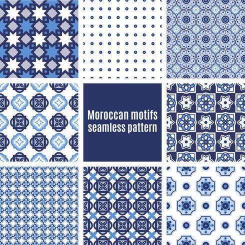 Azulejos portugais ensemble de modèles vecteur