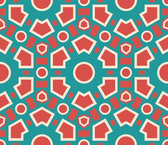 Texture géométrique de modèle sans couture. vecteur