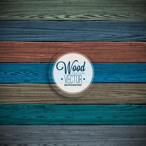 Design de fond de texture bois peint vecteur