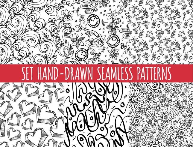 Ensemble de quatre motif abstrait abstraite sans soudure, vecteur