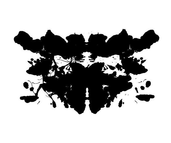 Test de taches d'encre de Rorschach vecteur