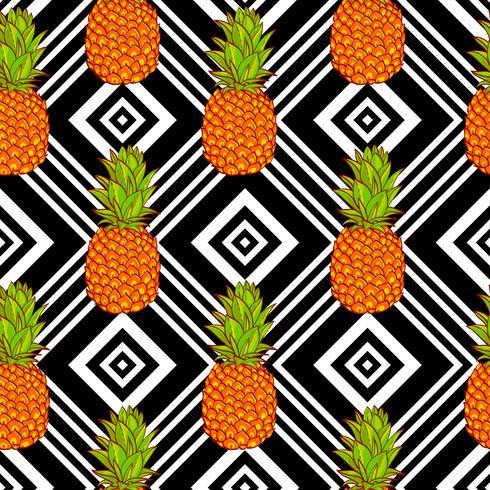 Fond d'ananas tropical vecteur