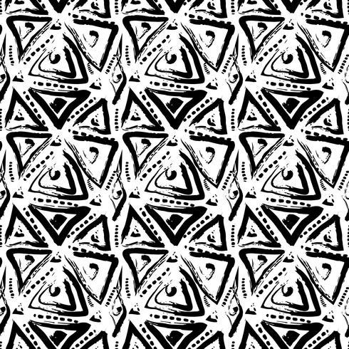Modèle sans couture peint dessiné de main. vecteur