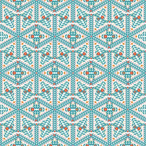 Modèle sans couture de flocons de neige vecteur