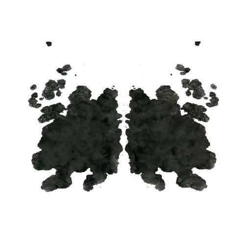 Test de taches d'encre de Rorschach, abstrait abstrait vecteur