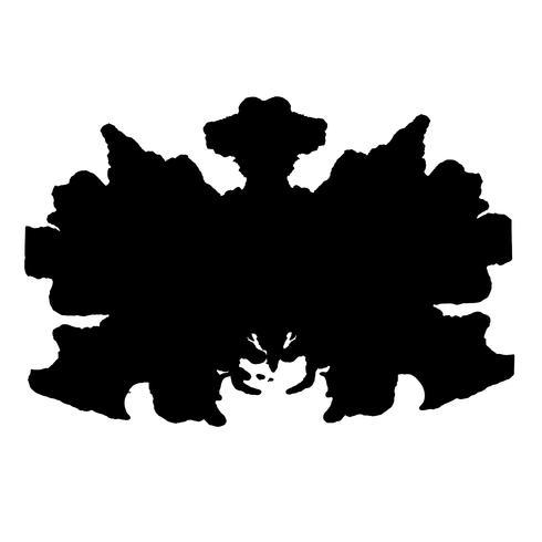 Rorschach inkblot test fond abstrait aléatoire vecteur