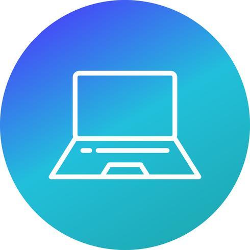 Icône de vecteur d'ordinateur portable