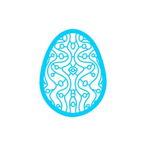 Joyeuses Pâques: gabarit de découpe au laser pour cartes de vœux vecteur