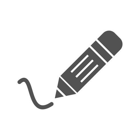 Icône d'écriture de vecteur