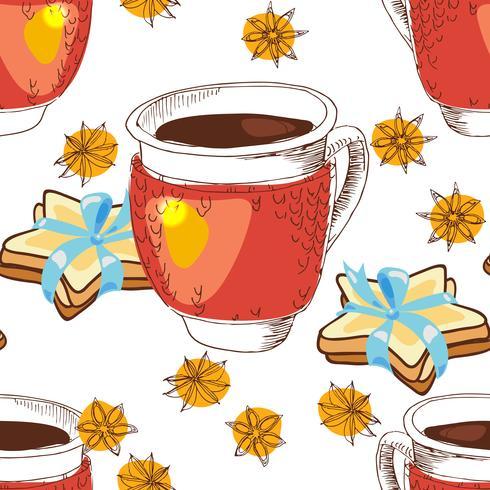 Tasse de thé de texture transparente vecteur