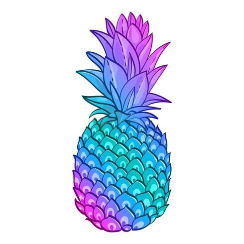 Affiche créative d'art à la mode d'ananas. vecteur
