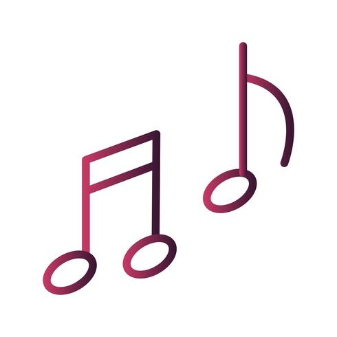 Icône de la musique de vecteur