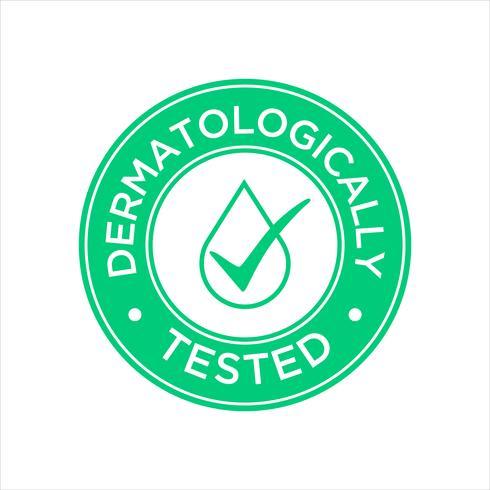 Icône testée dermatologiquement vecteur