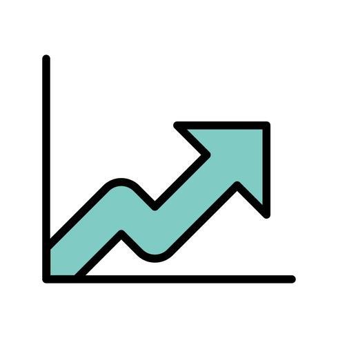 Icône de vecteur de croissance