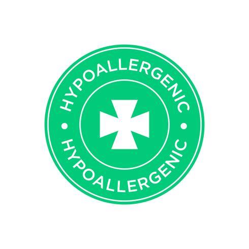 Icône hypoallergénique vecteur