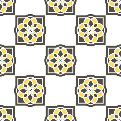 Carreaux d'azulejo portugais. Modèles sans soudure. vecteur