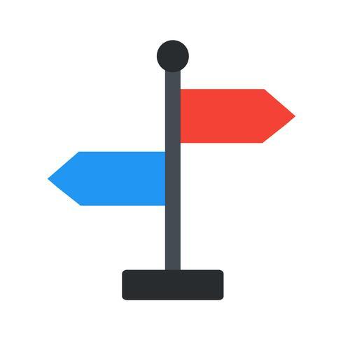 icône de vecteur de direction