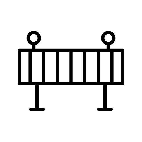 Icône de vecteur de barrière