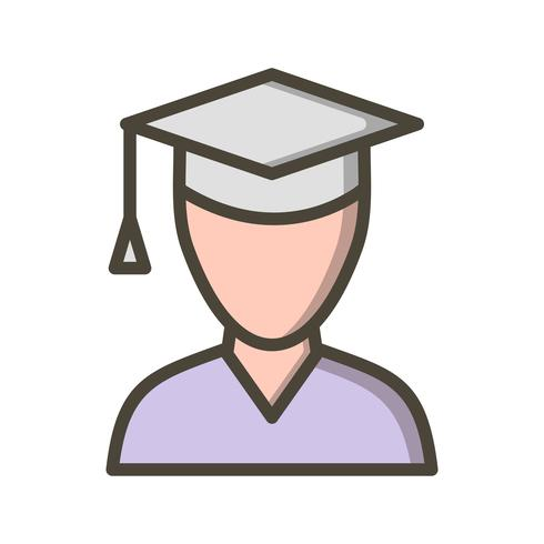 Icône d'étudiant de vecteur