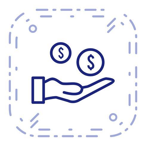 Icône de paiement de vecteur
