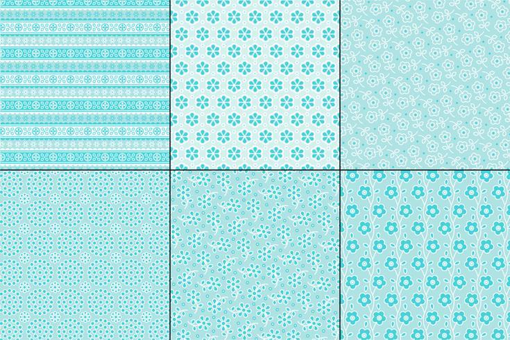 motifs de broderie oeillets bleu clair vecteur