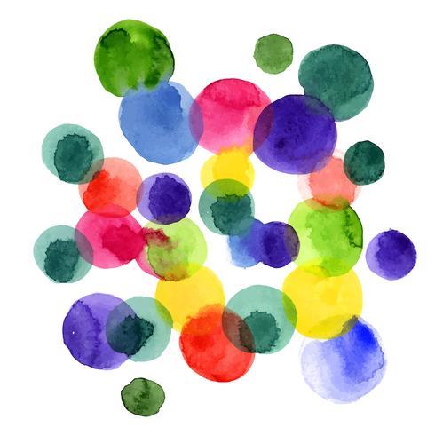 Cercles d'aquarelle. vecteur