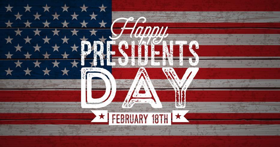 Heureuse journée des présidents de l'illustration vectorielle USA vecteur