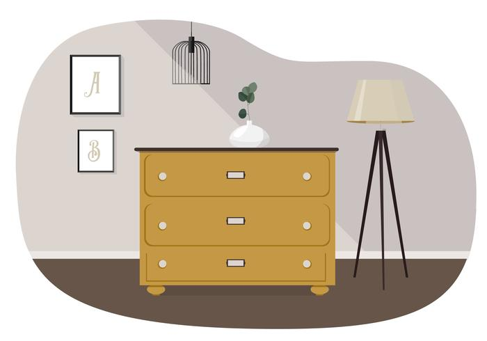 Illustration vectorielle de salon vecteur