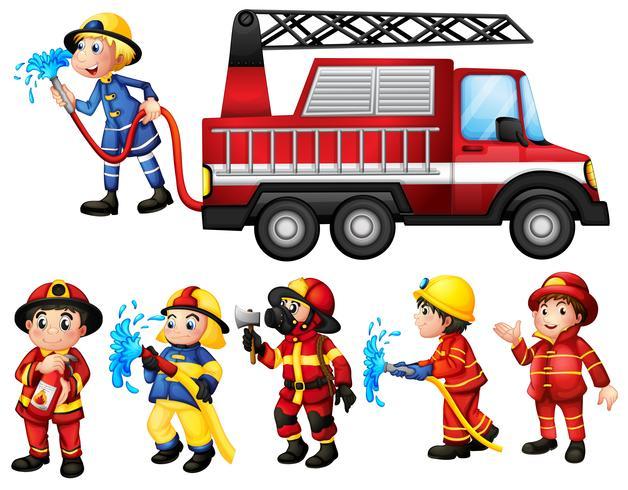 Sapeurs pompiers vecteur