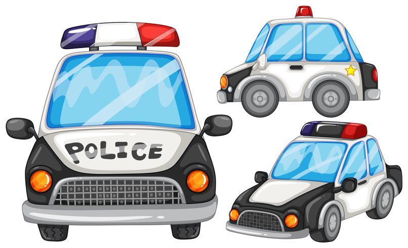 Voitures de police vecteur