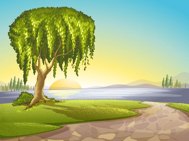 paysage vecteur