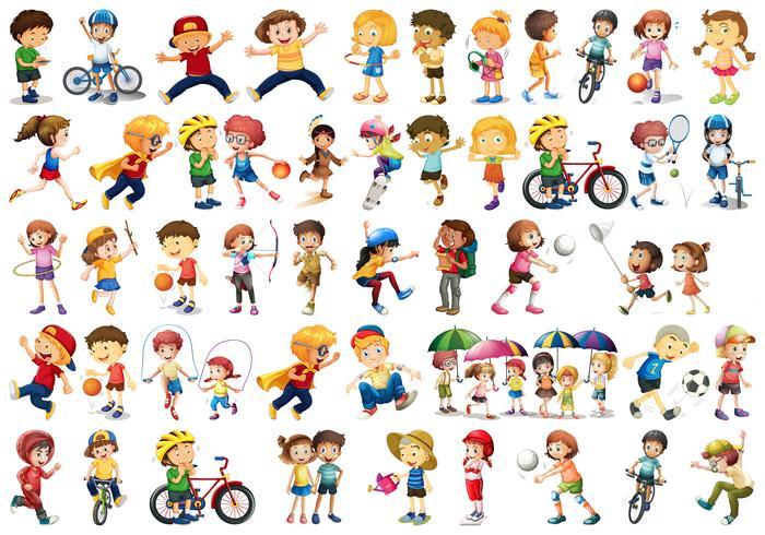 Ensemble de sport enfants vecteur