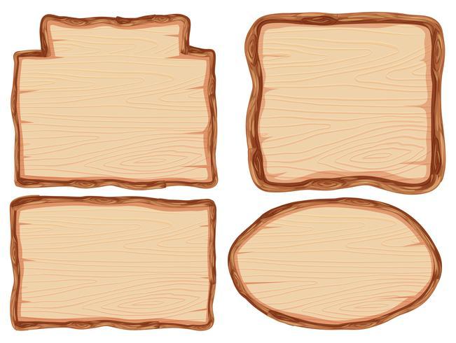 Ensemble de bannière en bois vecteur