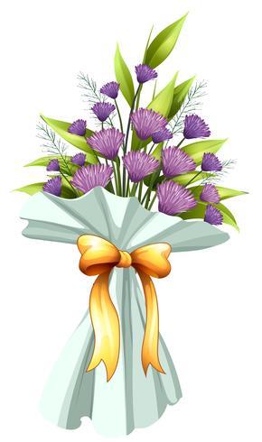 Un boquet de fleurs violettes vecteur