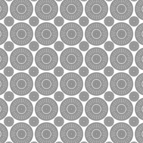 motif de médaillon en résille noir blanc vecteur